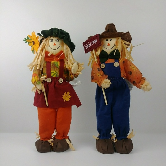 unbranded Other - Standing Scarecrow Boy and Girl Fall Decorations.